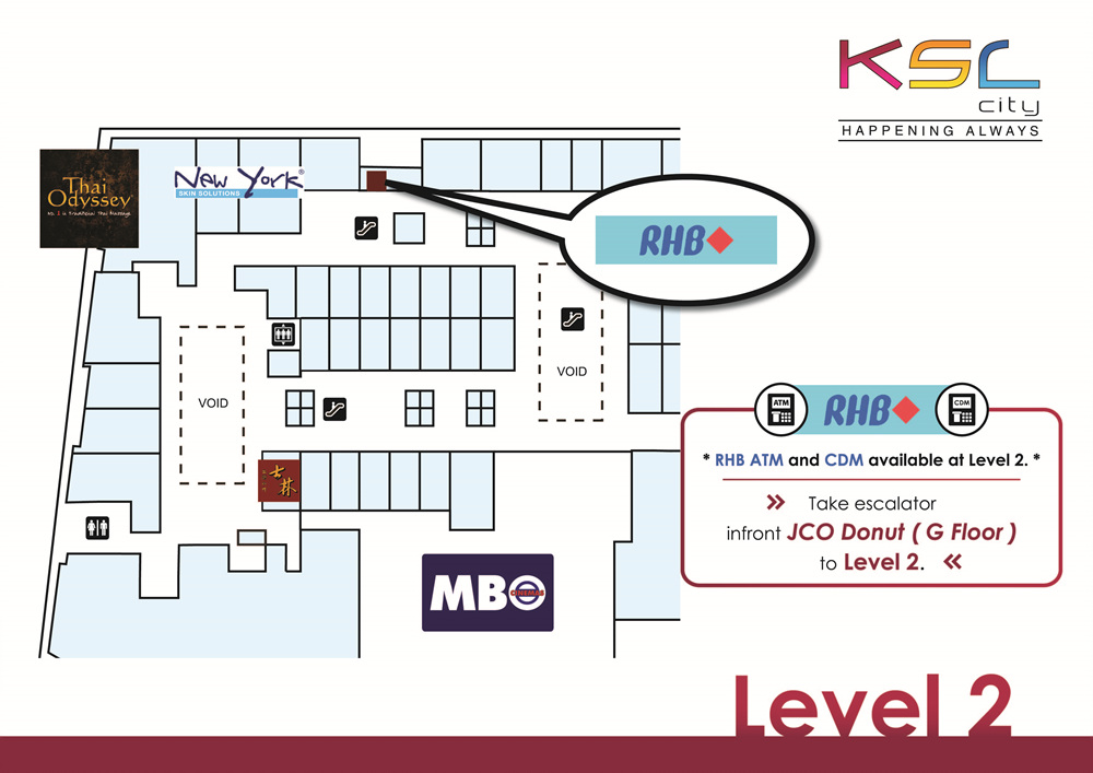 RHB ATM & CDM is available at Level 2